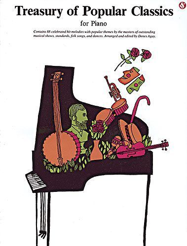 Treasury Of Popular Classics Learn to Play Classical Piano Themes Music Book