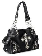 Western Rhinestone Cross Purse