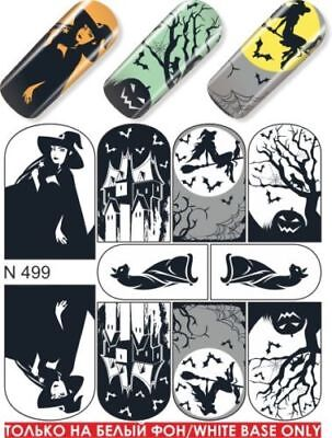 Nail Art Water Transfers Decals Stickers Slider Desing Halloween Choose yours](Halloween Nail Desings)