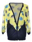 Chiffon Yellow Sweaters for Women