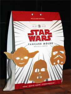 Discontinued- NEW- Star Wars Pancake Molds-Darth,Yoda,Stormtroop