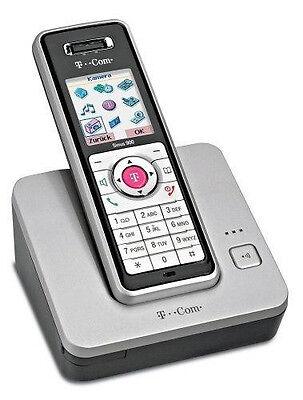 T-Com Sinus-900i Schnurlostelefon mit VGA-Kamera, MMS-SMS Funktion ISDN