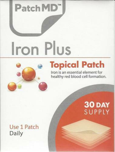 Iron Plus Topical PatchMD Patch Vitamin Supplement 30 Day Pa