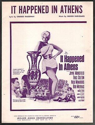 It Happened In Athens 1962 Sheet Music