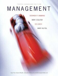 Management, Tenth Canadian Edition by Robbins et al. Hardcover