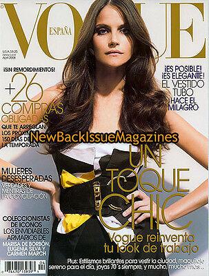 Spanish Vogue 4/08,Missy Rayder,Ashton Kutcher,April 2008,NEW