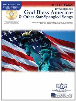 GOD BLESS AMERICA & OTHER STAR-SPANGLED SONGS PLAY-ALONG ALTO SAX MUSIC BOOK/CD