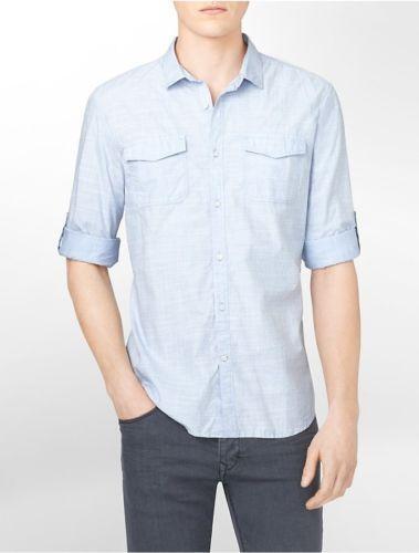 Roll Up Sleeve Shirt Mens Ebay