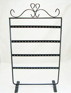 Black-Jewelry-Holder-Display-Rack-for-Earrings-32-Pairs-d011