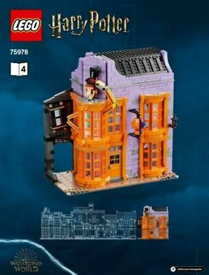 LEGO 75978 Diagon Alley Weasley's Wizard Wheezes & Knockturn Alley - NO MINIFIGS