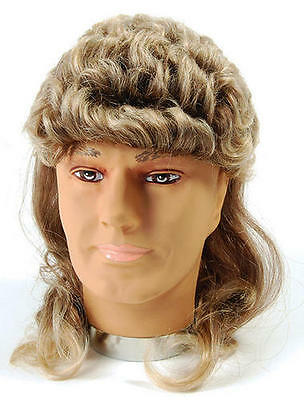 2 Tone Blonde Brown Mullet Wig George Michael Wham Hill Billy Fancy - Billy Mullet Wig