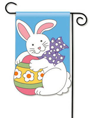 BreezeArt Breeze Art EASTER BUNNY Applique Garden Mini Flag