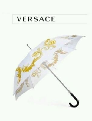 VERSACE WHITE AND GOLD EXECUTIVE UMBRELLA IDEAL FOR WEDDING