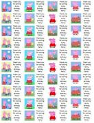 Peppa Pig Personalised Stickers