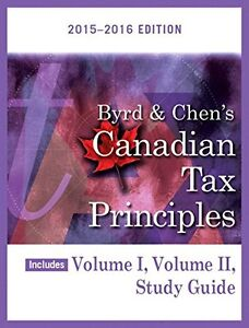 Canadian Tax Principles volume 1, volume 2, study guide