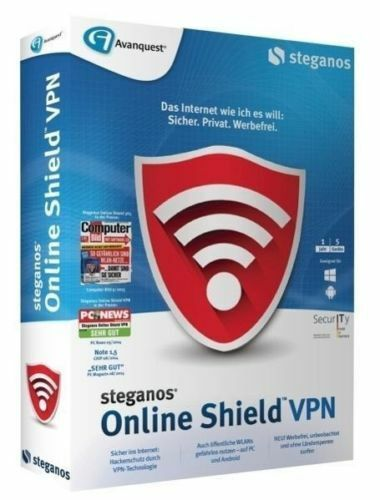 Steganos Online Shield VPN 12 Monate Cyberghost (Windows Android iOS)