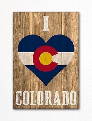 I Love Colorado Flag Heart Fridge Magnet - Heart Magnets
