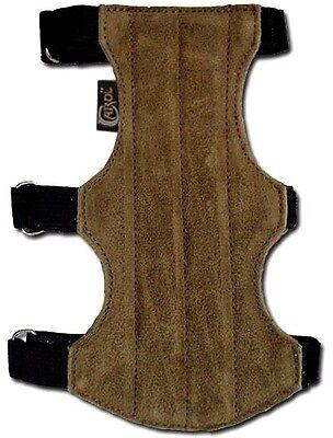 CAROL TARGET ARCHERY ARM GUARD FINISHED LEATHER AG201F BLACK 18cm L X 9cm W .