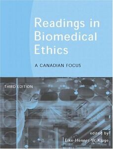 Readings in Biomedical Ethics PHIL 234