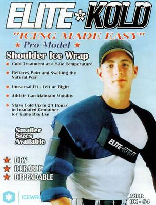 Elite Kold Shoulder Ice Wrap Compression Adult DK-54 Athlete Baseball Pitchers Pitchers Shoulder Ice