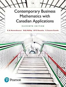 Contemporary Business Mathematics with Canadian Application 11t