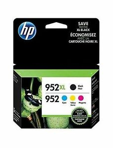 Hp 952xl High Yield Black & Hp 952 Cyanmagentayellow Ink Cartridges, Pack Of 4 5