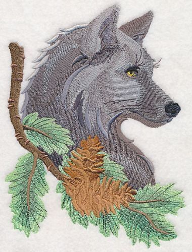 "Wolf, Wolves, Embroidered Patch 5.7""x 7.8"""