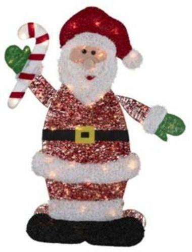 Santa claus outdoor decorations ebay for 4 ft santa claus decoration