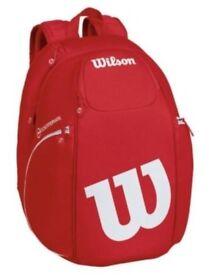 NEW Wilson Vancouver Backpack RDWH Tennis Racket Bag