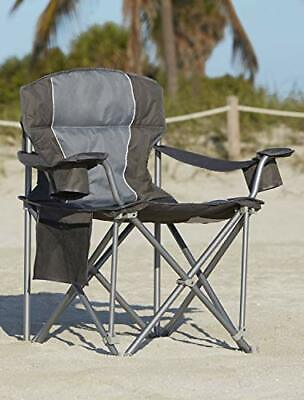 Portable Camping Chair with Oversized Shatter-Proof Feet - 500lbs Capacity Blue