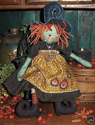 Primitive Witch Ann Halloween Annie Doll Paper Pattern #490