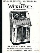 Wurlitzer Jukebox 1700