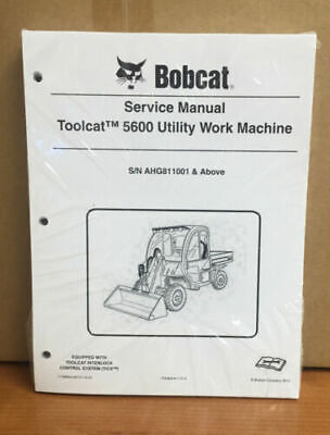 Bobcat 5600 Toolcat Utility Vehicle Service Manual Shop Repair Book 5 7179865