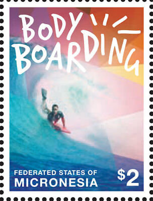 Micronesia- Body Boarding Stamp - 1 stamp MNH