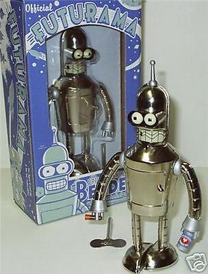 Futurama Bender Bright N Shiny Tin Wind up Robot