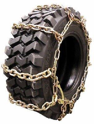 Wallingfords Ladder Pattern 10-16.5 10mm 4 Link Skid Loader Tire Chains - 3410i