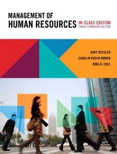Management of Human Resources, 3rd Canadian In-Clas