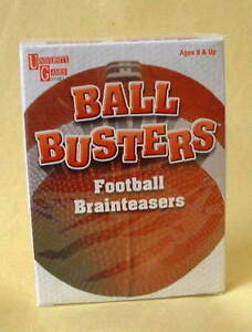 "NEW!  Sealed...""BALL BUSTERS"" Football Trivia Brainteasers London Ontario image 1"