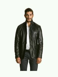 Calvin-Klein-Collection-men-039-s-leather-jacket-armani-d-amp-g-ita-46-eu-S-us-36