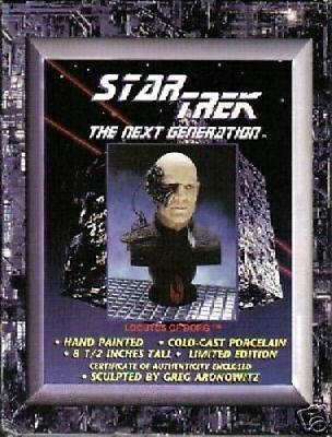 Star Trek The Next Generation Captain Picard LOCUTUS of BORG Cold Cast Bust NEW