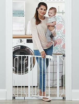 Regalo Easy Step 38.5-Inch Extra Wide Walk Thru Baby Gate, Includes 6-Inch