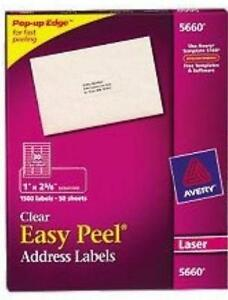 Clear labels ebay avery clear labels pronofoot35fo Choice Image