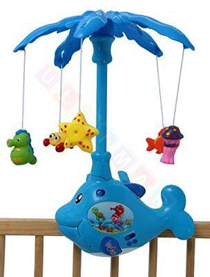Musik-Mobile Fisch mit Gummi-Spielzeuge, Ton und Licht - Babyspielzeug