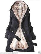 Womens Faux Fur Winter Coat