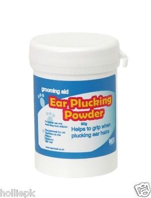 HATCHWELLS DOG CAT GROOMING EAR PLUCKING POWDER 90G FOR SHOWS FOR HAIR REMOVAL