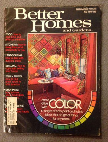 Vintage Better Homes And Gardens Magazine Ebay