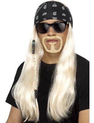 90er Jahre 1990s Herren Rocker Kostüm Perücke Satz Hogan von - Schwarzen 90er Jahre Kostüm
