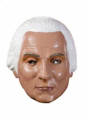 George Washington Plasic Mask President Fancy Dress Halloween Costume Accessory - George Washington Halloween Mask
