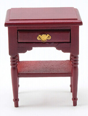 Miniature Dollhouse Nightstand Night Stand Mahogany 1:12 Scale New