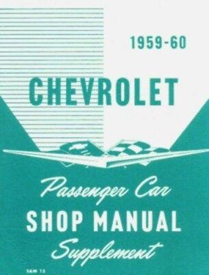 CHEVROLET 1959-60 Impala/El Camino/Bel Air Shop Manual Chevy El Camino Shop